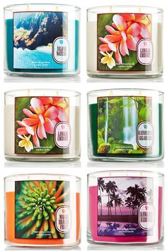 New Tropical Spring Bath Body Works Candles... really loving Lanikai Coconut. I'll definitely be burning it all summer along with Tiki Beach and Caribbean Escape! <3 <3 <3