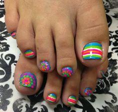 Simple Toe Nails, Pretty Toe Nails, Summer Toe Nails, Cute Toe Nails, Hot Nails, Pretty Toes, Hair And Nails, Toenail Art Designs, Pedicure Designs