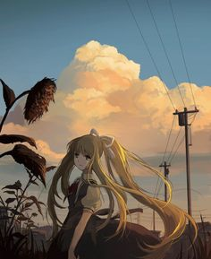 Kai Fine Art is an art website, shows painting and illustration works all over the world. Manga Art, Anime Art, Blonde Anime Girl, Air Image, Anime School Girl, Anime Girls, Themes Photo, Cosplay, Anime Scenery