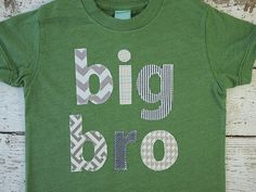 New lil threadz design posted! Sibling shirt big bro big brother big little sister tee chevron plaid houndstooth etc construction children's shirt birth announcement by lilthreadzclothing