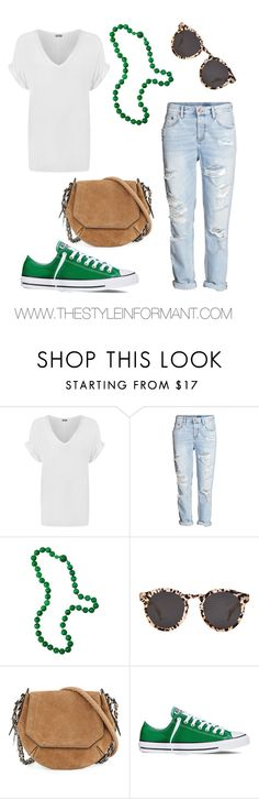 """Casual St. Patrick's Day"" by thelifeoftheparty ❤ liked on Polyvore featuring WearAll, H&M, Illesteva, rag & bone, Converse, women's clothing, women, female, woman and misses"
