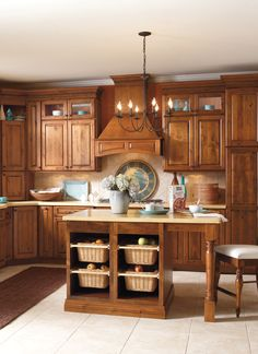 Delicieux Great Kitchen Cabinets! Open Baskets In The Island, A Place For Seating, And