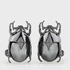 Paul Smith Cufflinks - Black Scarab Beetle Cufflinks