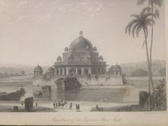 Antique Engraving c1845 - Mausoleum of The Emperor Shere Shah Sheer-Sha in India