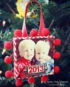 DIY Photo Ornaments