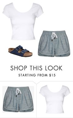 """Lazy Dayz #3"" by m2w8w8 on Polyvore featuring rag & bone/JEAN, Jane Norman and Birkenstock"