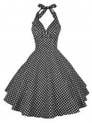 Halter Polka Dot Pin Up Dress