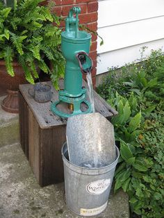 Hand Pump Fountain by US Rt 40, via Flickr