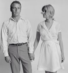Paul Newman and Joanne Woodward photographed by Lawrence Schiller in Los Angeles, 1970