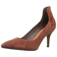 Nanette Lepore Womens Sophie Suede Embroidered Pumps