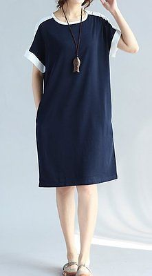 Women loose fitting over plus size pocket dress tunic pregnant maternity fashion… – Schwanger Kleidung Stylish Dresses, Simple Dresses, Plus Size Dresses, Women's Dresses, Plus Size Outfits, Casual Dresses, Fashion Dresses, Loose Summer Dresses, Work Dresses