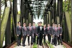 Cool groomsmen in suits | An Art Deco Inspired Singapore Wedding at Shangri-La: Tian and Jess #singapore #wedding #sgwedding