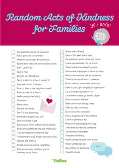 50+ Random Acts of Kindness for Families to Do Together Charity Run, Donate To Charity, Feeling Under The Weather, Friendly Letter, Say Something Nice, Free Things To Do, Random Acts, Drawing For Kids, Say Hi