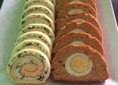 Ruladă aperitiv (cu șuncă, cremă de brânzăși cașcaval) – Rețetă simplă și gustoasă Meatloaf, Sushi, Ethnic Recipes, Food, Salads, Essen, Meals, Yemek, Eten