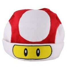 Touca de Pelúcia Super Mushroom - Cogumelo Vermelho (Super Mario Bros) | Loja Quarto Geek
