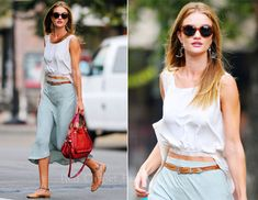 Sidewalk Style: Rosie Huntington-Whiteley Accessorizes With Chloé