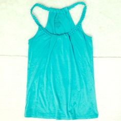 BUY 1, GET 2 FREE❗️Teal tank top As shown.  In perfect condition. Also have this in yellow. Charlotte Russe Tops Tank Tops