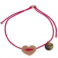 Lua - Armband Loveheart - Fuchsia