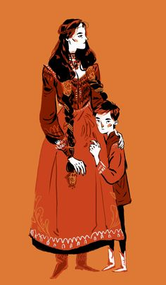 Morwen & tiny Turin by cy-lindric Pretty Art, Cute Art, Tag Art, Character Illustration, Illustration Art, Animation, Character Design Inspiration, Looks Cool, Art Inspo