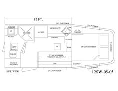 Living Quarter Horse Trailer - 10\' Short Wall Floor Plan - equinerv ...