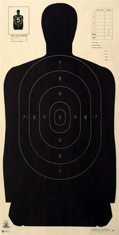 NRA Certified Law Enforcement Silhouette.                                                                                                                                                                                 More