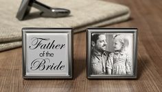 This is too stinkin cute! Father of the Bride Cufflinks  Wedding by OurCufflinkShop on Etsy