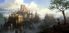 fantasy ancient artstation castle concept artwork lee