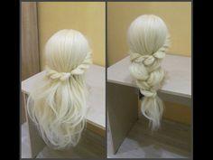 Прическа за 3 минуты. Легко, красиво, быстро. ☺ Hairstyle for 3 minuty. easy, beautiful, fast. ☺ - YouTube