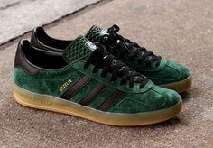 adidas Originals Gazelle Indoor: Dark Green/Black