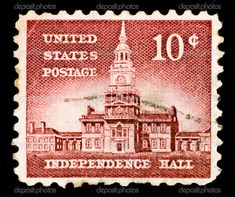 Us Postage Stamps | Vintage US postage stamp - Stock Image