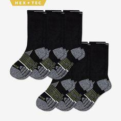 6 Pair Croft /& Barrow Men/'s Black Marl Cold Weather Winter Crew Boot Socks NEW