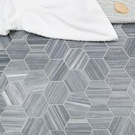 Grey hexagon tile