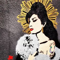 Atmosphere (Amy Winehouse) by Pegasus, The Earl of Camden Pub, 55 Parkway, Camden Town - Camden Town Street Art, London England - Tily Travels.