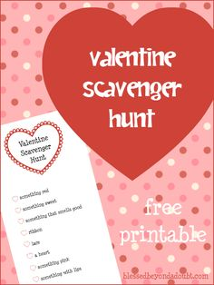 This Valentine Scavenger Hunt is a great activity for a chilly February day. Roll it up, tie with a ribbon, and hand it out for Valentine's Day!