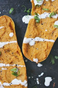 Twice-Baked Curry-Spiced Butternut Squash with Cashew Cream