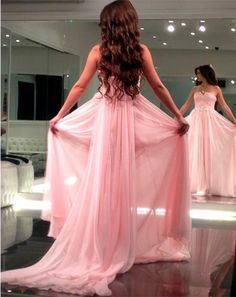 New Arrival Prom Dress,Modest Prom Dress,long chiffon strapless prom dresses 2017 formal evening gowns with removable train