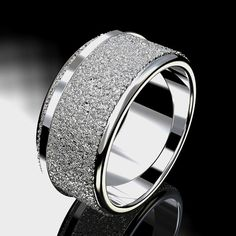 Thick Wedding Band Ring Gaia Organic Textured By EDFrenchStudio 23600 Size 75 To 8