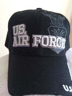 US Air Force   Seal Shadow on a Black Ballcap. US Air Force on a new black ball  cap. cccafade245d