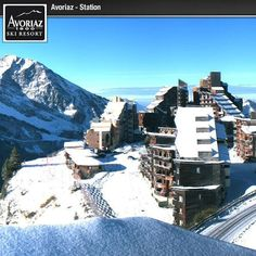 The suns out today #Avoriaz #snow #winter