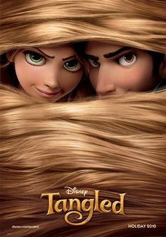 """Movie poster for Disney's 2010 computer animated classic, """"Tangled."""""""