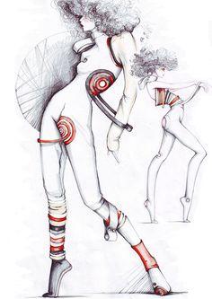 Cosmic Girls by elena sofia tinis at Coroflot.com