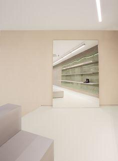 Bar Interior, Interior Walls, Interior Design, Architecture Magazines, Interior Architecture, Expanded Metal, Aarhus, Men Store, Design System