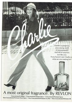 1973 Advertisement Charlie Perfume by Revlon Womens Cologne Fragrance Style Fashion Popular Sexy Salon Wall Art Decor Perfume Hermes, Perfume Lady Million, Perfume Versace, Perfume Diesel, Best Perfume, Cards, Nostalgia, Childhood