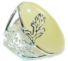 $84.85 Sunset Glow!! Butterscotch Polish Amber Sterling Silver Ring s. 8 - Adjustable at www.SilverRushStyle.com #ring #handmade #jewelry #silver #amber