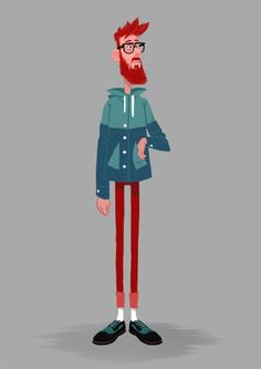 just love the illustration! It makes me smile Character Design Challenge, Character Design Animation, Character Design References, Character Design Inspiration, People Illustration, Character Illustration, Children's Book Illustration, Man Character, Character Concept