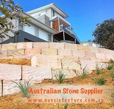 Fantastic Pictures sandstone Retaining Walls Thoughts For those who have the garden from the Clarksville place, chances are you may have thought it was challenging . Sandstone Cladding, Natural Stone Cladding, Sandstone Paving, Natural Stone Wall, Natural Stones, Landscape Design, Garden Design, Sandstone Fireplace, Stone Supplier