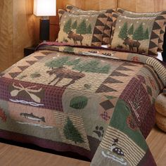 Three Piece Rustic Quilt Set. Perfect for a cabin retreat.