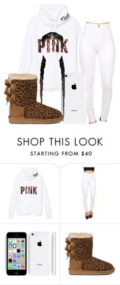 """""""Untitled #212"""" by neca-xoxo ❤ liked on Polyvore featuring Victoria's Secret PINK and UGG Australia"""