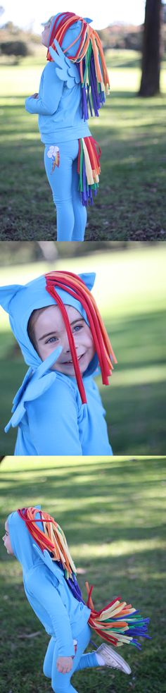 Rainbow Dash costume // Megan Nielsen Design Diary