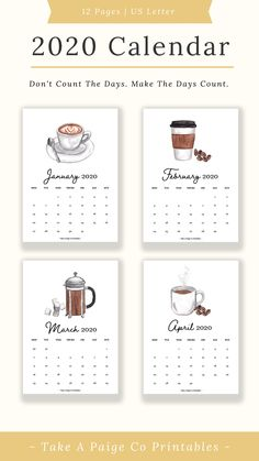 Desktop Calendar, Desk Calendars, Kalender Design, Place Card Holders, Printables, Messages, Lettering, Digital, Day